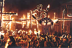 Cliffe Bonfire Society's Vikings 1992   Photo: Pete Varnham