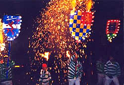 Neville's smugglers carrying street fireworks