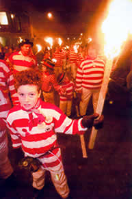Waterloo Bonfire Society's smugglers - of all ages 
